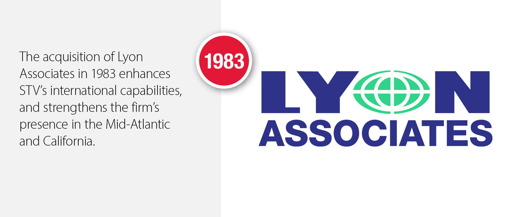 1983 - STV acquires Lyon Associates